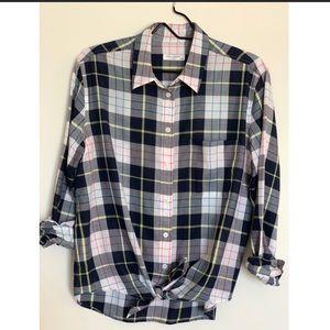 Equipment Femme plaid button up shirt